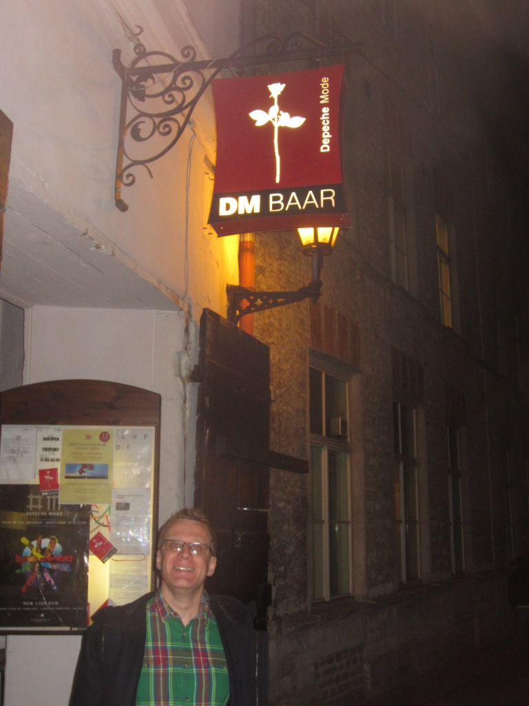Yours truly outside Depeche Mode bar
