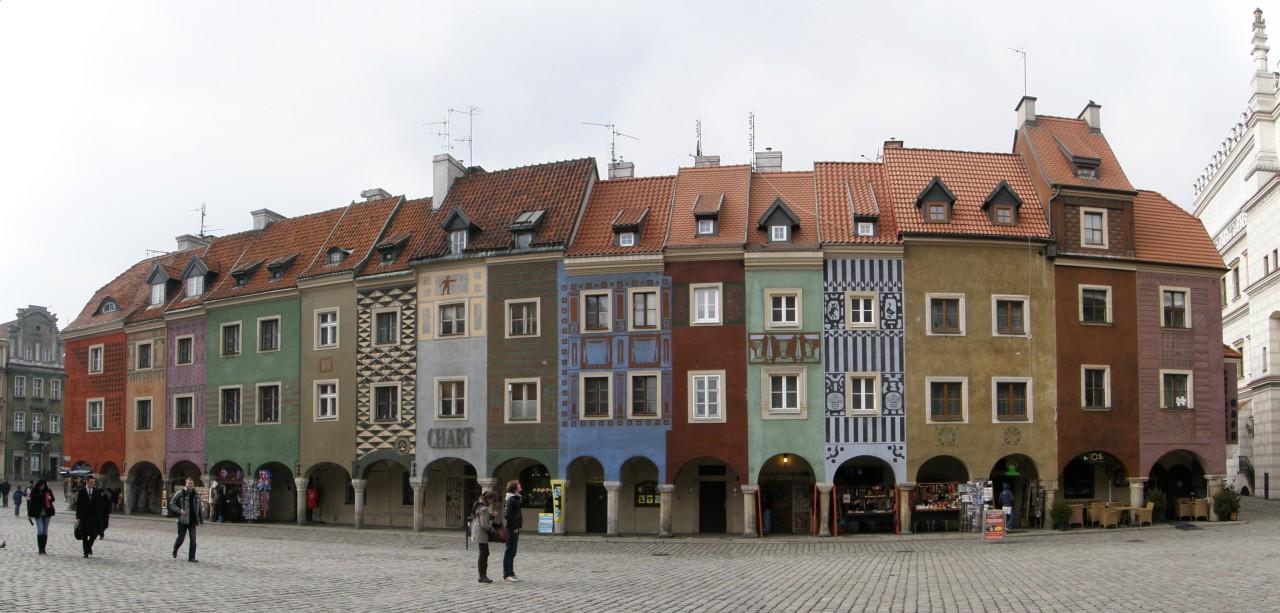 Multi-coloured merchant's houses of Stary Rynek