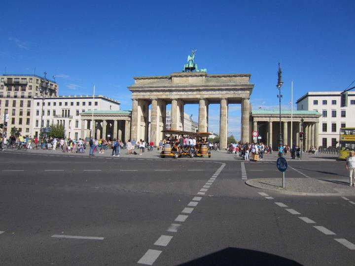 Brandenburg Gate as seen from our wheels