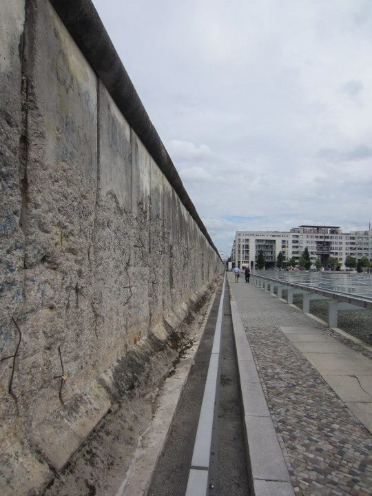 The remaining Berlin Wall outside Topographie des Terrors