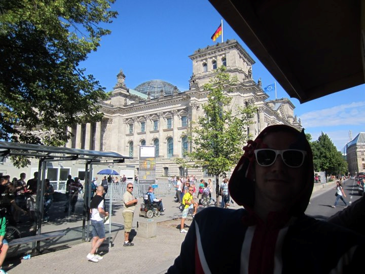 Our stag with the Reichstag behind