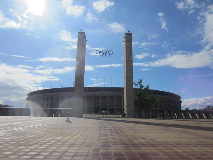 The approach to the Olympic Stadium