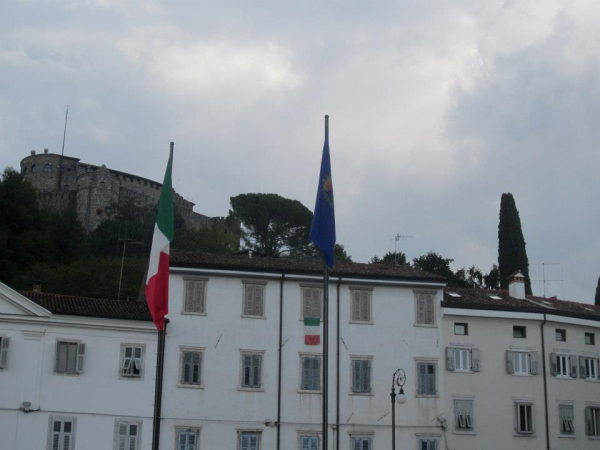 Gorizia's castle in daylight