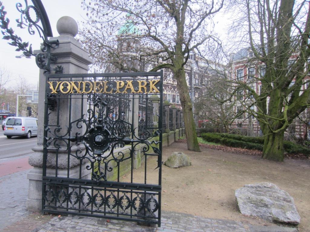 The gates to Vondelpark