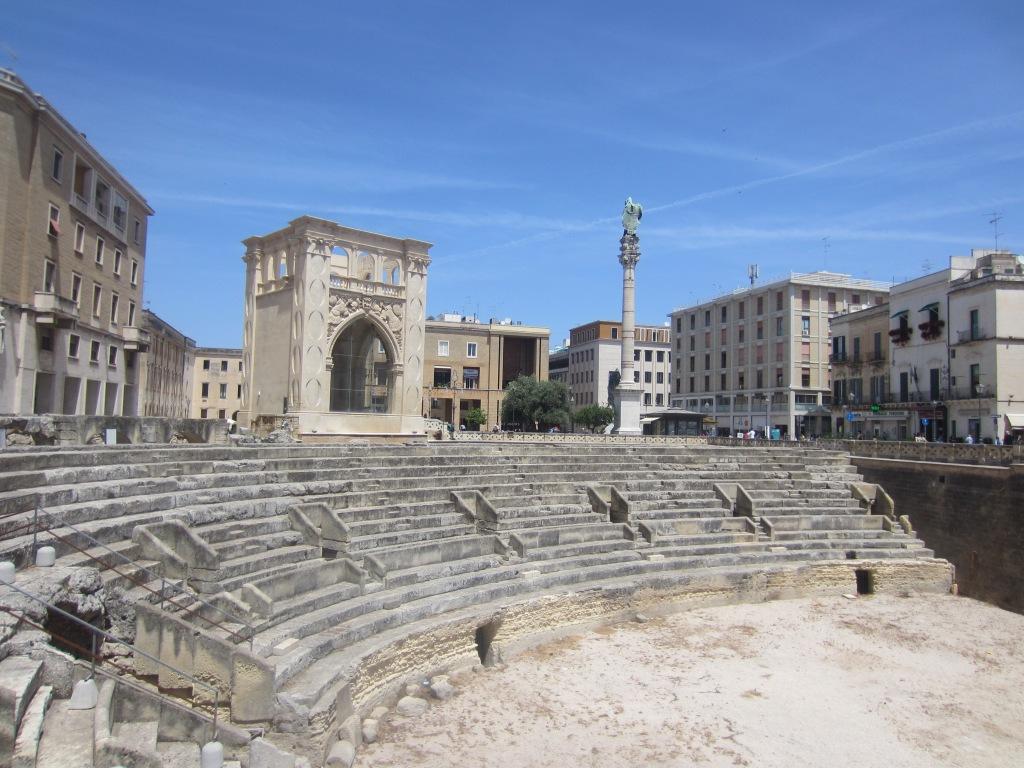 Half a Roman amphitheatre amongst all that Baroque architecture