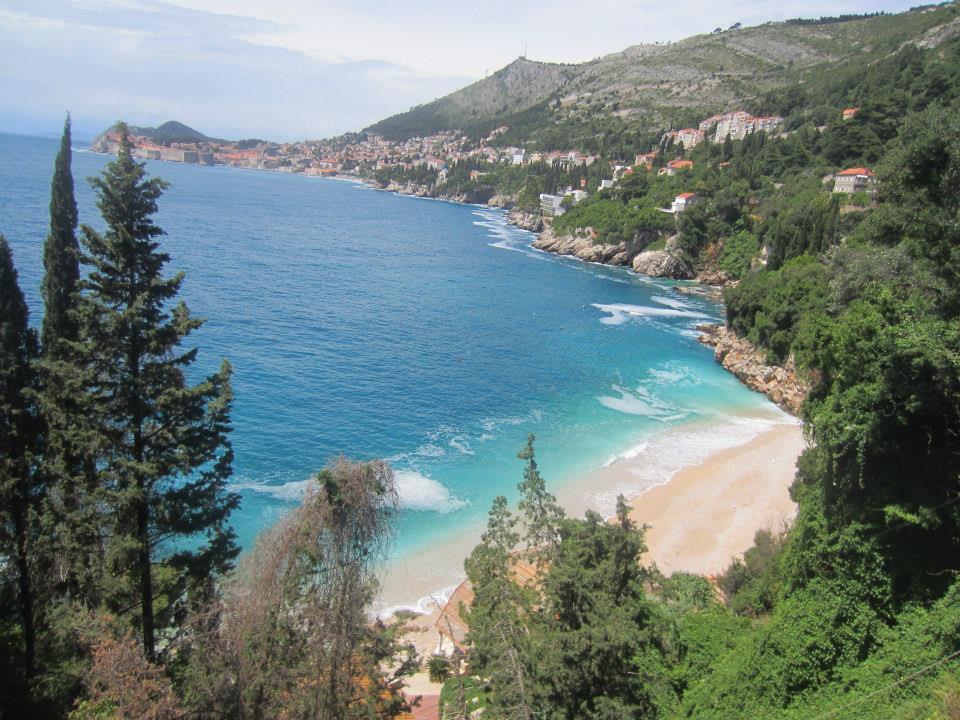 The view from above Sveti Jakov beach
