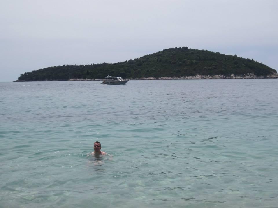 Bobbing off Banje beach