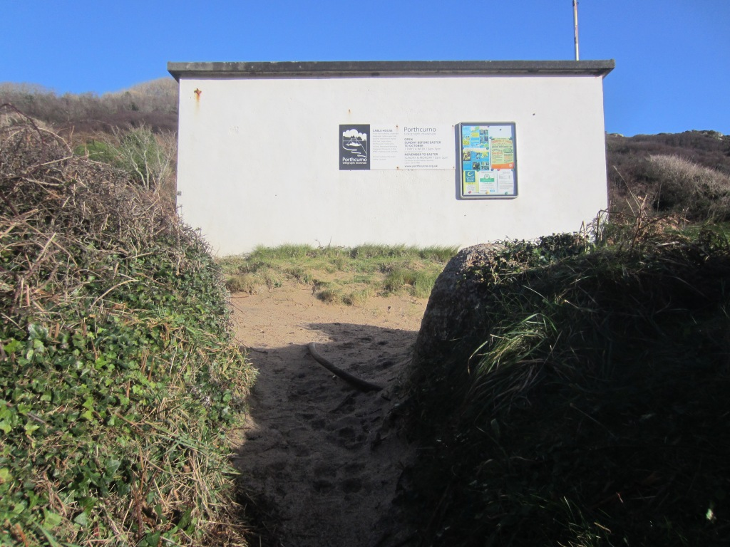 The beachfront Cable Station - note the cable in the foreground