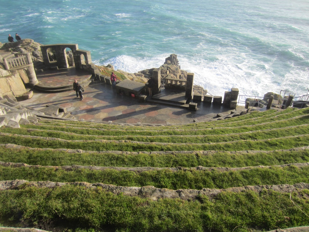 """The view from the Minack Theatre,  the """"theatre under the stars"""""""