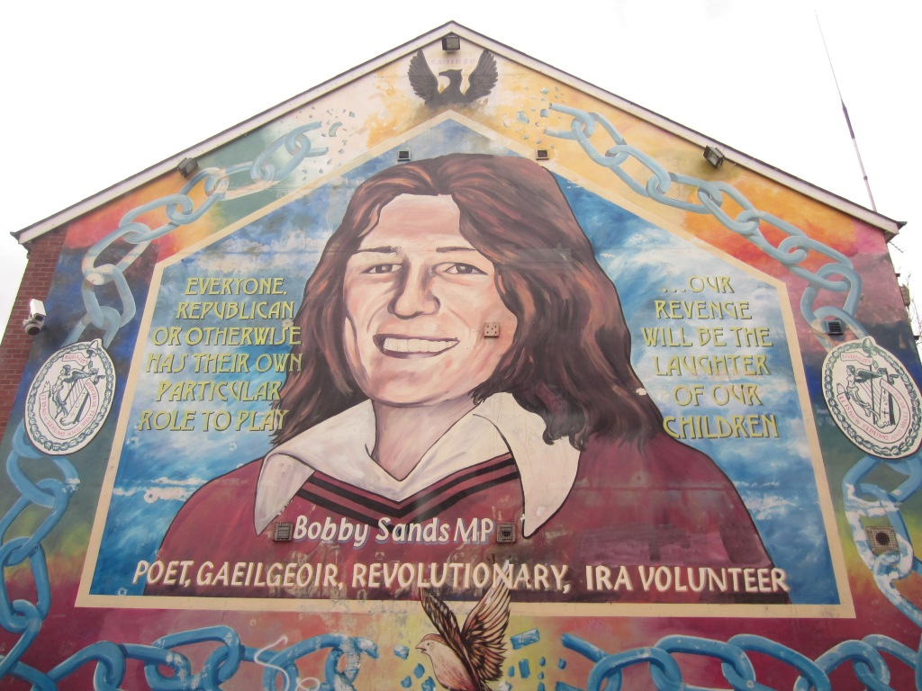 Is it a character from a Roy of the Rovers sketch? Is it a schoolgirl? No, it's the famous Bobby Sands.
