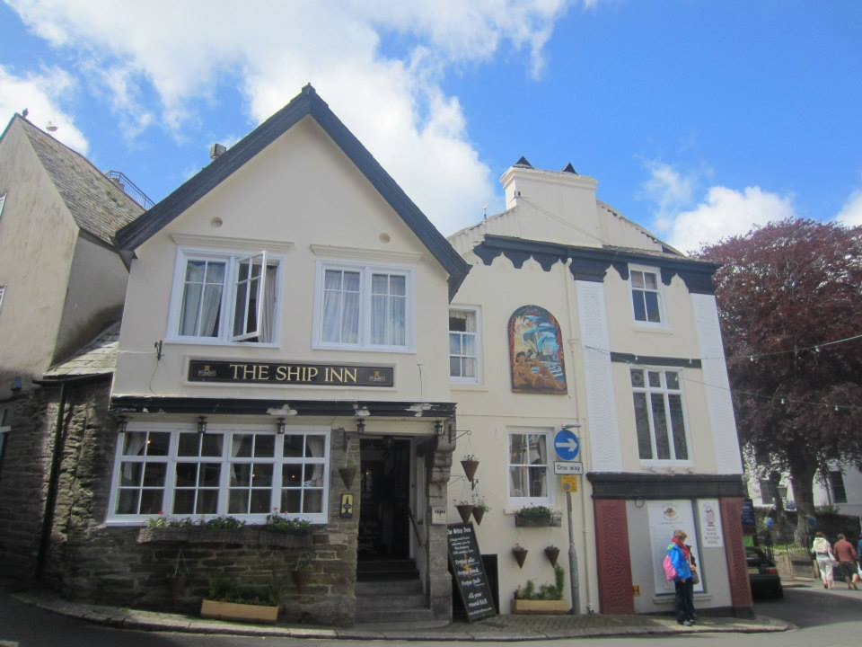 There are a handful of decent boozers in Fowey, like The Ship Inn on Trafalgar Square...