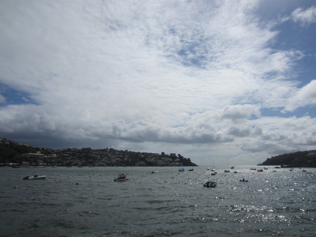 The whitewashed village of Polruan faces Fowey across the River Fowey estuary.