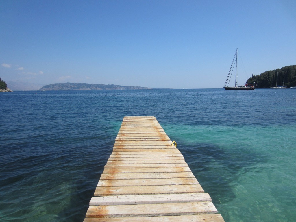 One of the jetties on Kalami's beach in the daytime...