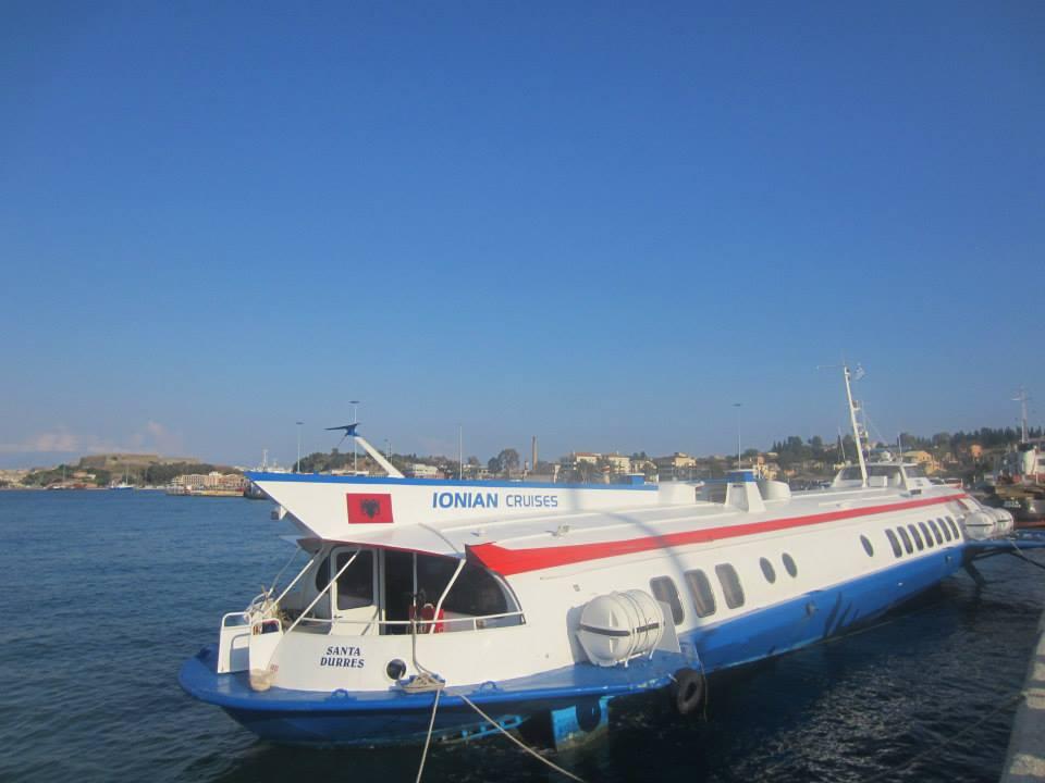 Ionian Cruise's hydrofoil to Saranda