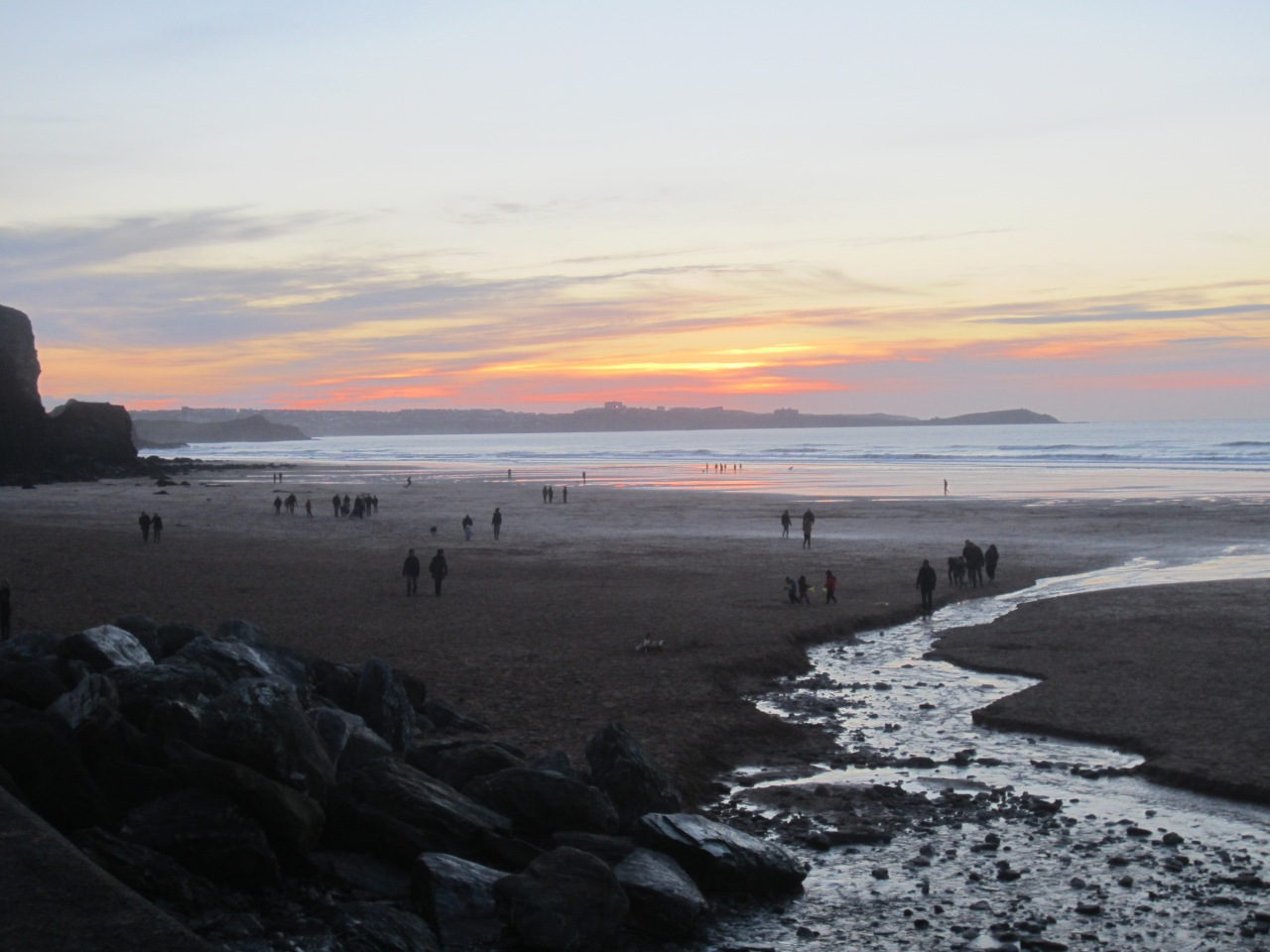 The Watergate Bay sunset walk