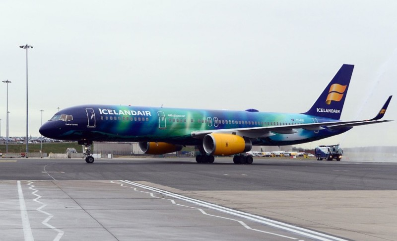 A flight on Hekla Aurora, Icelandair's northern lights themedplane