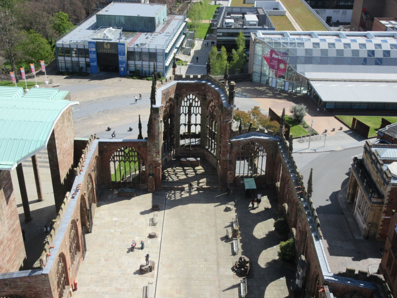 The view from Coventry Cathedralspire